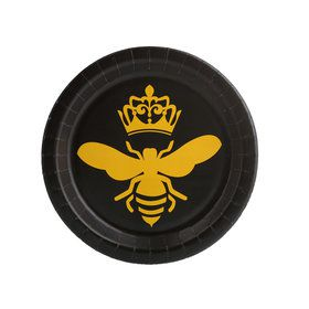 Queen Bee Black Dessert Plate (8)