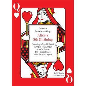 Queen's Card Party Personalized Invitation (each)