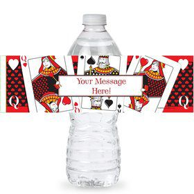 Queens Card Personalized Bottle Labels (Sheet of 4)