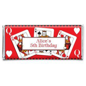 Queens Card Personalized Candy Bar Wrapper (Each)