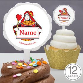 Queens Card Personalized Cupcake Picks (12 Count)