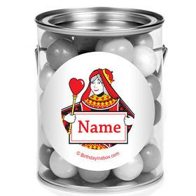 Queens Card Personalized Mini Paint Cans (12 Count)