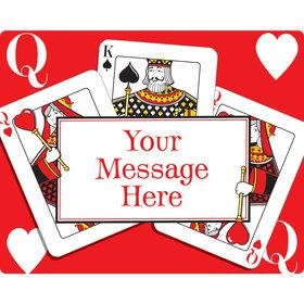 Queens Card Personalized Rectangular Stickers (Sheet of 15)