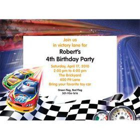 Race Cars Personalized Invitation (each)