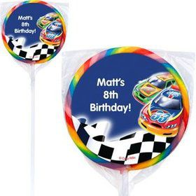 Race Cars Personalized Lollipops (pack of 12)