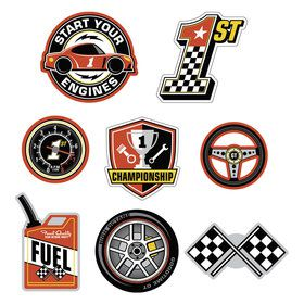 Racecar Birthday Wall Cut Outs (8)