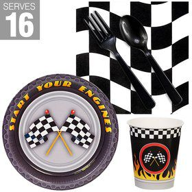 Racecar Racing Party Snack Pack For 16