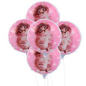 Rachaelhale Glamour Cats 5pc Foil Balloon Kit