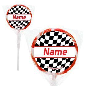 "Racing Flag Personalized 2"" Lollipops (20 Pack)"