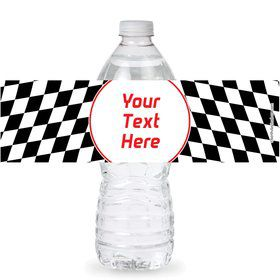 Racing Flag Personalized Bottle Labels (Sheet of 4)