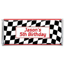 Racing Flag Personalized Candy Bar Wrapper (Each)
