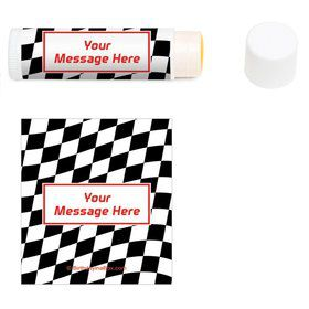Racing Flag Personalized Lip Balm (12 Pack)