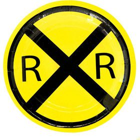 "Railroad Paper Party Plates 7"" (8)"