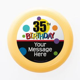 Rainbow Birthday Add-Any-Age Personalized Mini Discs (Set of 12)
