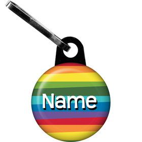 Rainbow Birthday Add-Any-Age Personalized Zipper Pull (Each)