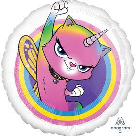 "Rainbow Butterfly Unicorn Kitty 18"" Balloon (1)"