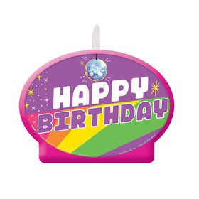 Rainbow Butterfly Unicorn Kitty Birthday Candle (1)