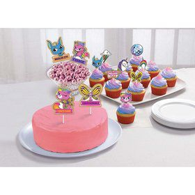 Rainbow Butterfly Unicorn Kitty Cake Toppers (12)