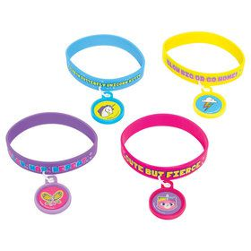 Rainbow Butterfly Unicorn Kitty Rubber Bracelet Favors (4)