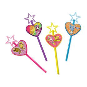 Rainbow Butterfly Unicorn Kitty Wand Favors (8)