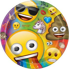 "Rainbow Fun Emoji 9"" Plates (8)"