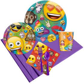 Rainbow Fun Emoji Party Pack (8 Count)