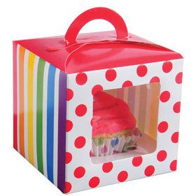 Rainbow Party Cupcake Boxes (12 Count)
