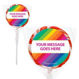 "Rainbow Personalized 2"" Lollipops (20 Pack)"