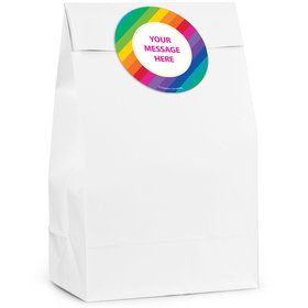Rainbow Personalized Favor Bag (12 Pack)