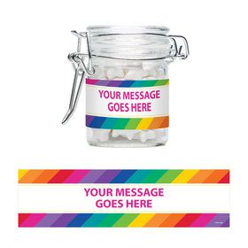 Rainbow Personalized Glass Apothecary Jars (12 Count)