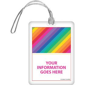 Rainbow Personalized Luggage Tag (Each)