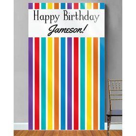 Rainbow Personalized Photo Backdrop (Each)