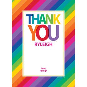 Rainbow Personalized Thank You (Each)
