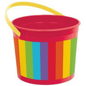 Rainbow Plastic Bucket (Each)