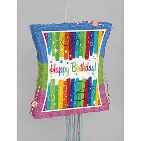 Rainbow Ribbons Birthday Popout Pinata