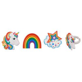 Rainbow Unicorn Cupcake Rings (12)