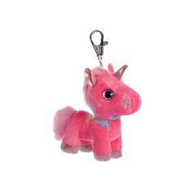 Rainbow Unicorn Plush Key Clip On
