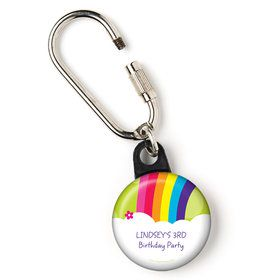 "Rainbow Wishes Personalized 1"" Carabiner (Each)"