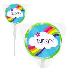 "Rainbow Wishes Personalized 2"" Lollipops (20 Pack)"