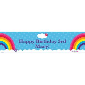 Rainbow Wishes Personalized Banner (each)