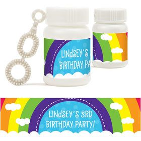 Rainbow Wishes Personalized Bubbles (18 Pack)