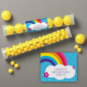 Rainbow Wishes Personalized Candy Tubes (12 Count)
