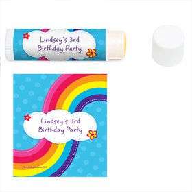 Rainbow Wishes Personalized Lip Balm (12 Pack)