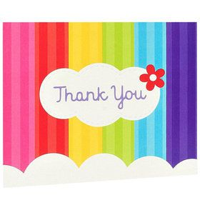 Rainbow Thank You Notes