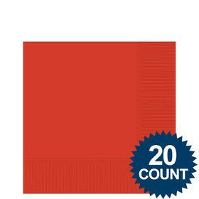 Red 3-Ply Beverage Napkins, 20 ct.
