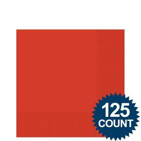 Red Beverage Napkins, 125 ct.