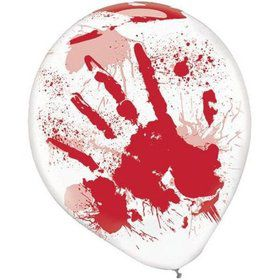 Red Blood Splatter Balloons (6 Pack)