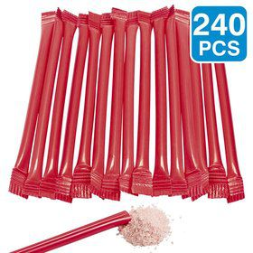 "Red Candy Filled 6"" Straws (240 Pack)"