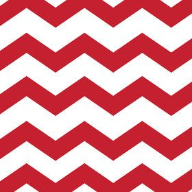 Red Chevron & Dots Luncheon Napkins (16 Count)