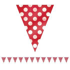 Red Dots 12' Flag Banner Decoration (Each)